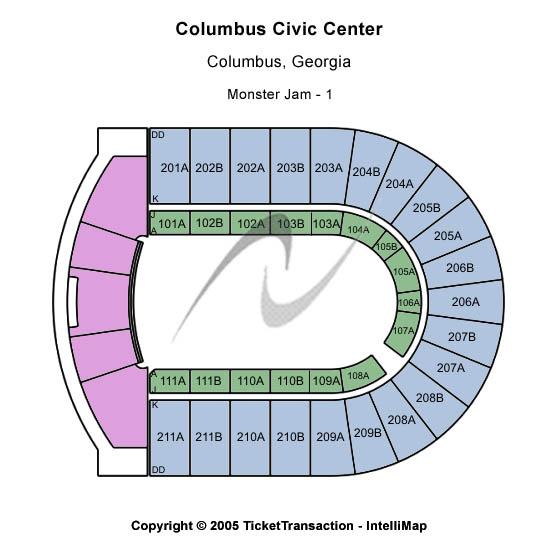 Columbus Civic Center Monster Jam 1