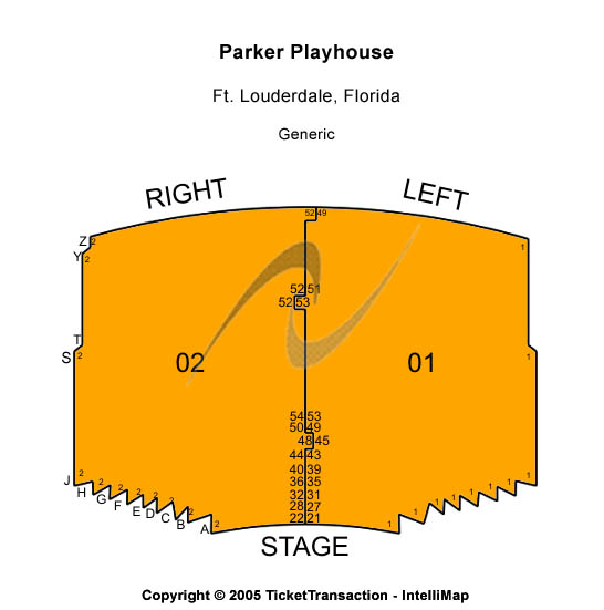 Parker Playhouse Seating Map