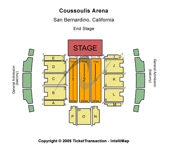 Coussoulis Arena Seating Chart