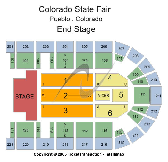 Colorado State Fair Seating Chart