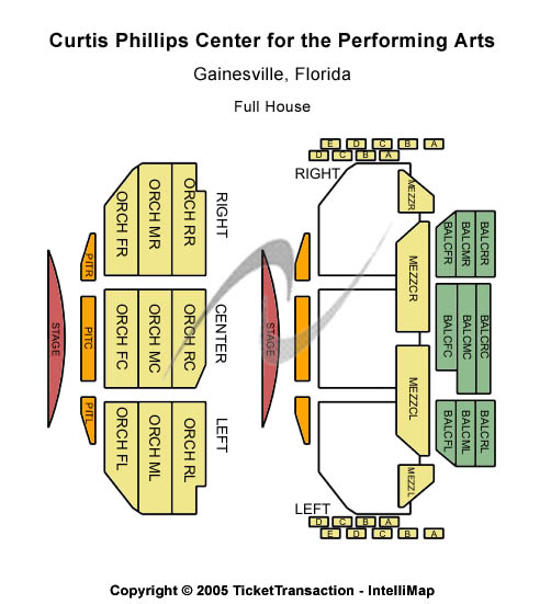 Curtis Phillips Center For The Performing Arts Seating Chart