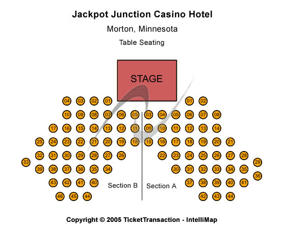 Jackpot Junction Casino Hotel Seating Map