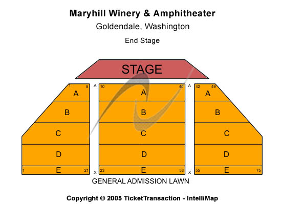 Maryhill Winery Seating Map