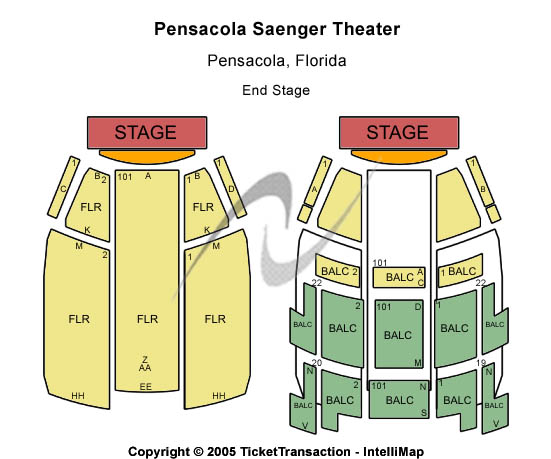 Saenger Theatre - FL Seating Map