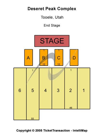 Deseret Peak Complex Seating Chart