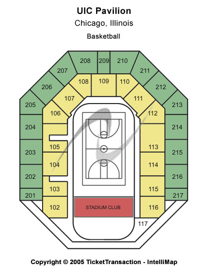 Uic Pavilion Seating Map