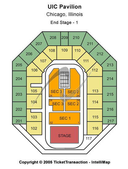 UIC Pavilion Seating Chart