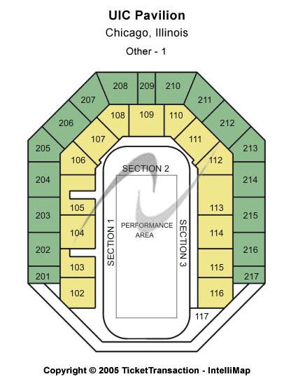 Uic Pavilion Seating Map