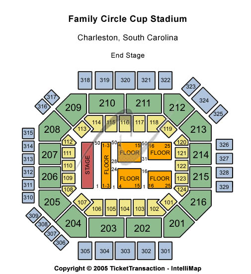 Family Circle Tennis Centre Seating Map