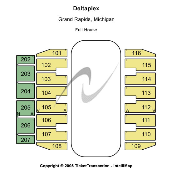 Deltaplex Seating Map