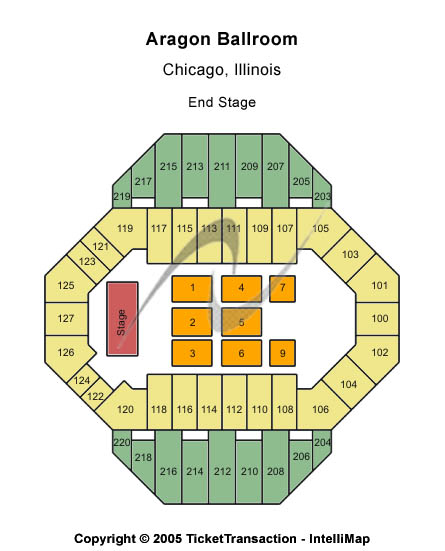 Aragon Ballroom Seating Chart