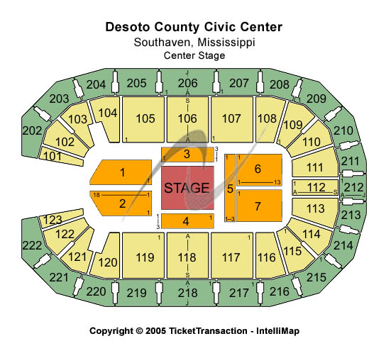 Desoto County Civic Center Seating Map