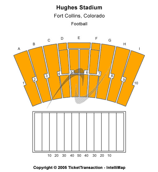Hughes Stadium Seating Map