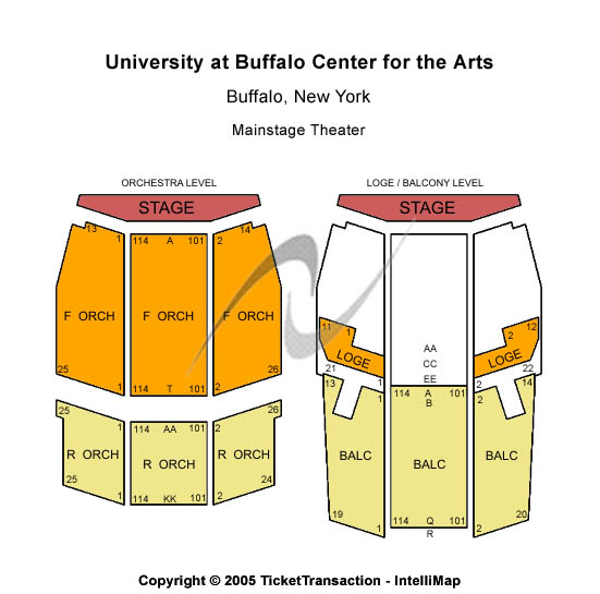 University At Buffalo Center For The Arts Seating Map