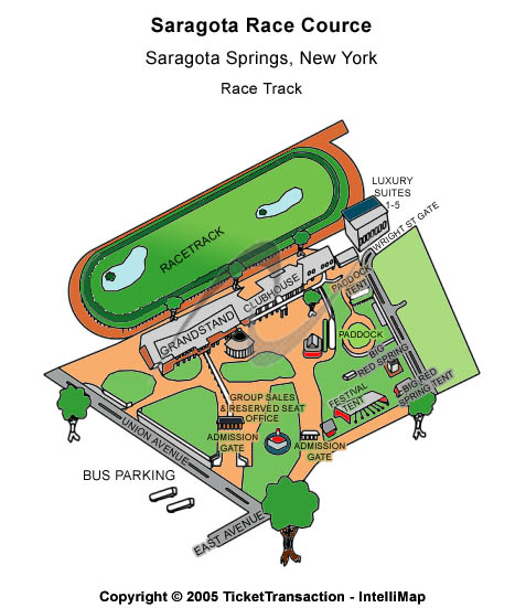 Saratoga Race Course Seating Map