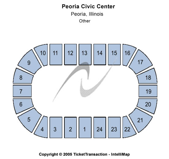 Peoria Civic Center Seating Map