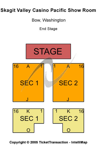 Skagit Valley Casino Seating Chart