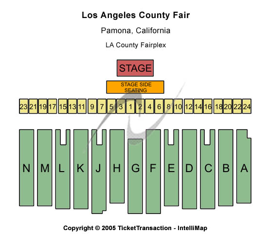 Los Angeles County Fair Seating Map