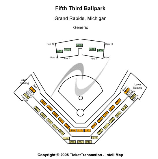 Fifth Third Ballpark Seating Chart