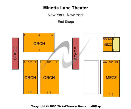 Minetta Lane Theatre Seating Map