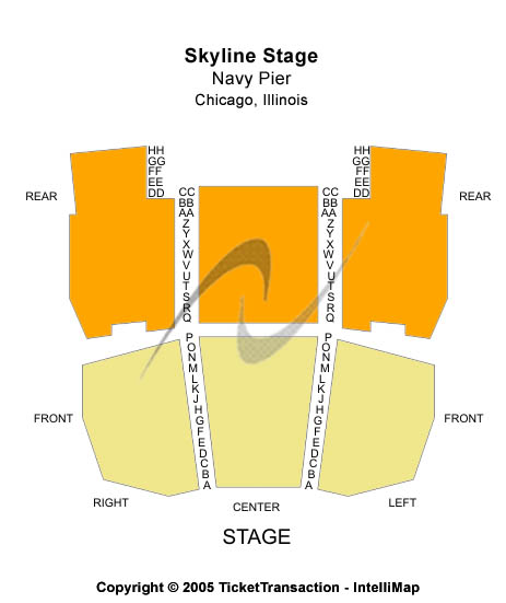 Skyline Stage At Navy Pier Seating Map