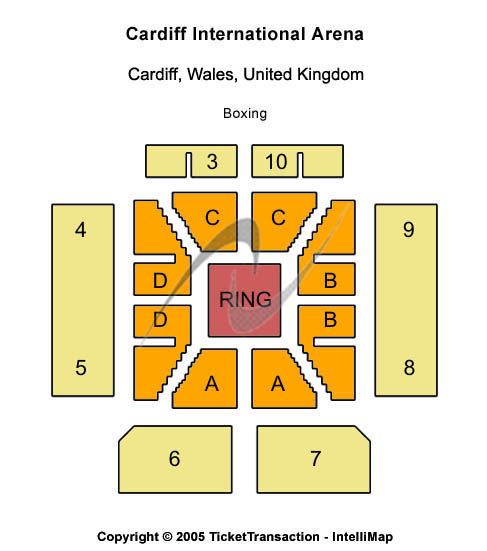 Cardiff International Arena Seating Map