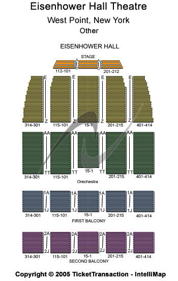 Eisenhower Hall Theatre Seating Chart