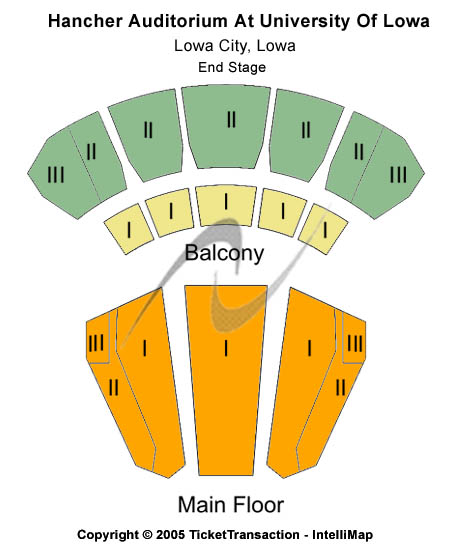 Hancher Auditorium [University of Iowa] Seating Chart