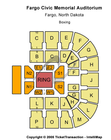 Fargo Civic Memorial Auditorium Seating Chart
