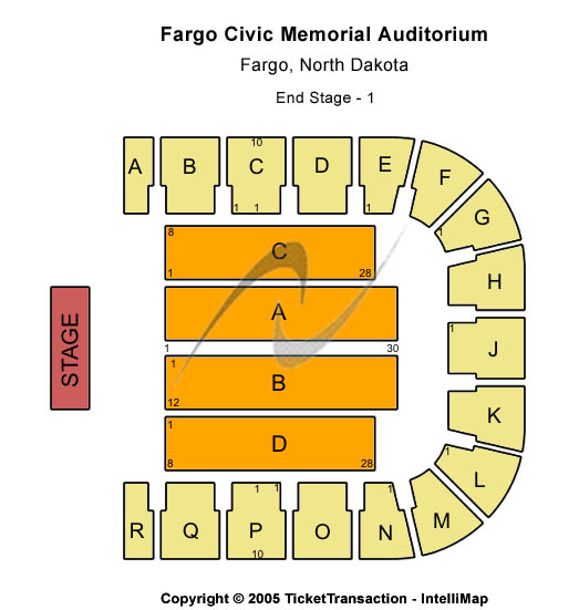 Fargo Civic Memorial Auditorium Seating Map