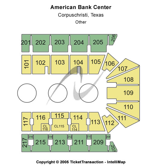 American Bank Center Seating Map