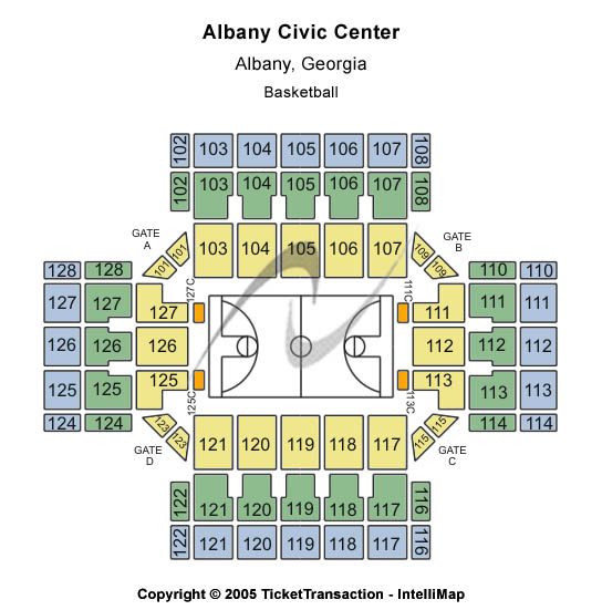 Albany Civic Center Seating Map