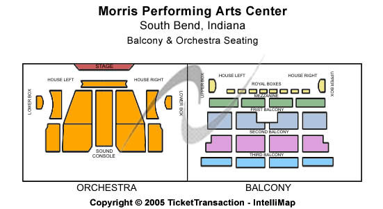 Morris Performing Arts Center Seating Chart