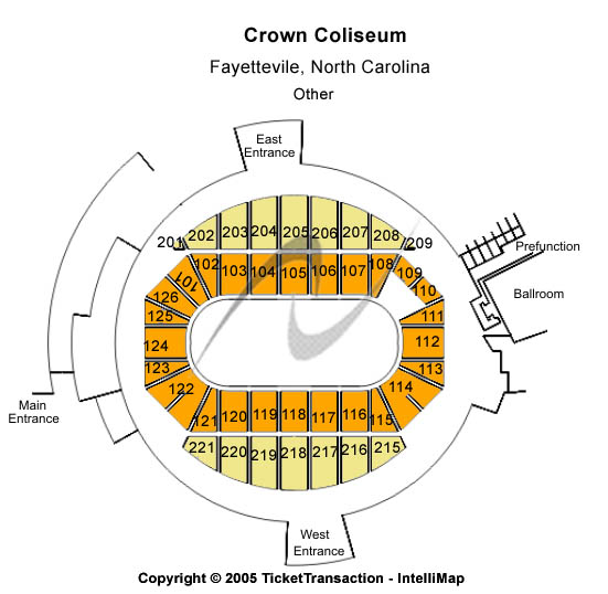 Crown Coliseum - The Crown Center Seating Map