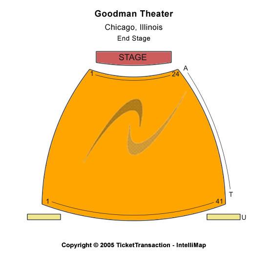 Albert Ivar Goodman Theatre Seating Chart