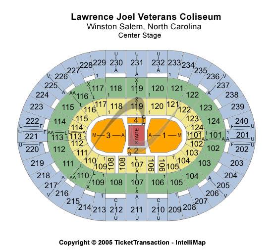 Lawrence Joel Veterans Memorial Coliseum Center Stage