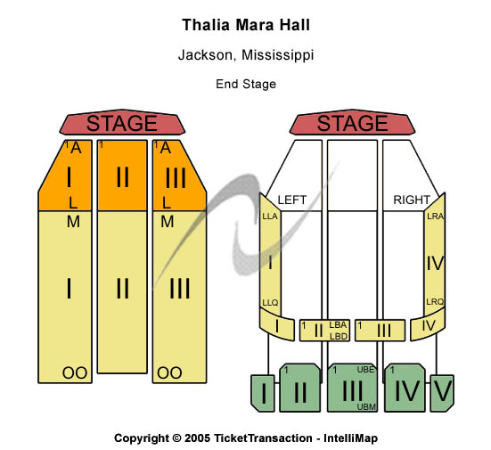 Thalia Mara Hall Seating Chart