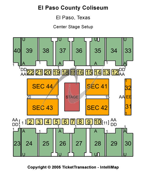 El Paso County Coliseum Seating Chart