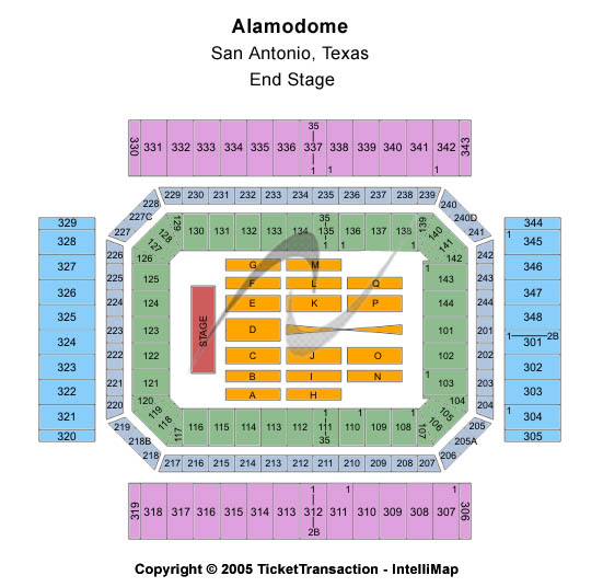 Alamodome Seating Chart