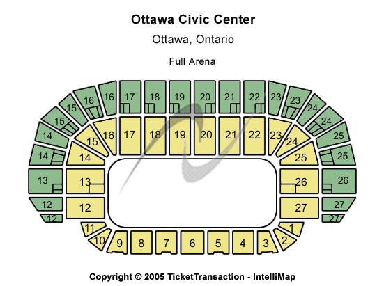 TD Place Arena Seating Chart