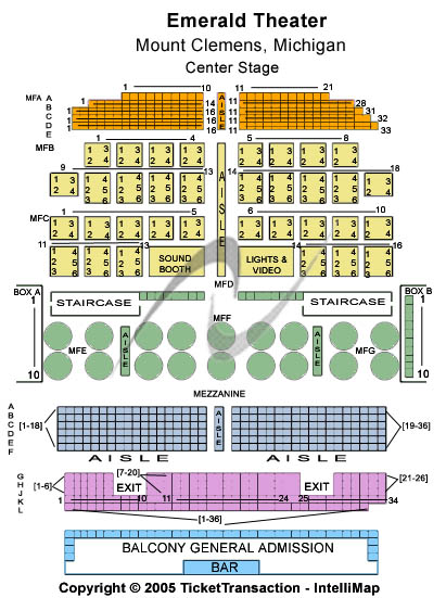 Emerald Theatre Seating Chart