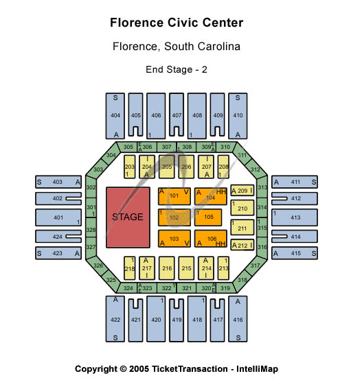 Florence Civic Center Seating Map