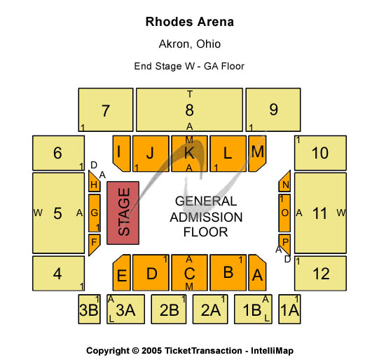 Rhodes Arena Seating Chart