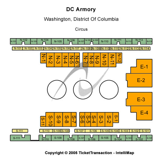 D. C. Armory Seating Chart