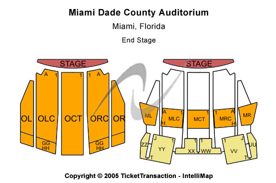 Miami Dade County Auditorium Seating Map