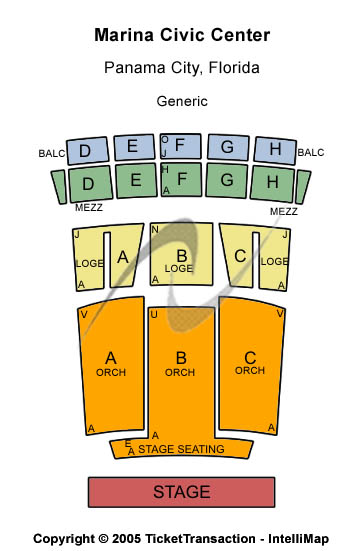 Marina Civic Center Seating Map