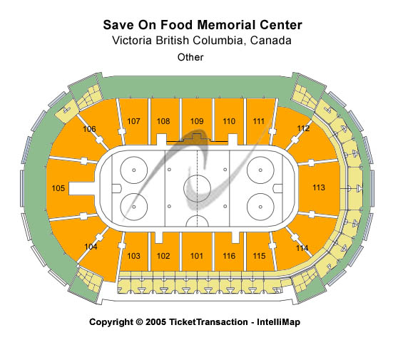 Save On Foods Memorial Centre Seating Map