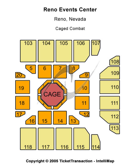 Reno Events Center Seating Chart