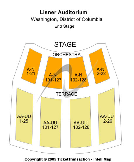 Lisner Auditorium Seating Chart