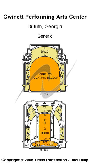 Gwinnett Performing Arts Center Seating Chart